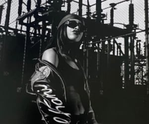 aaliyah, street style, and celebrity rap hip hop image
