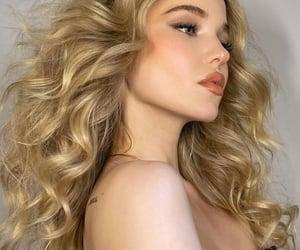 beautiful, blonde, and make-up image