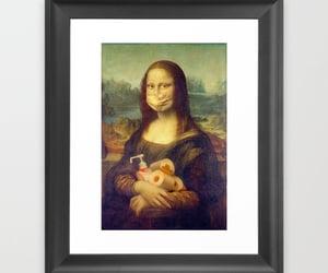 da vinci, mona lisa, and vintage art image