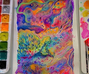art, multicolor, and sketching image