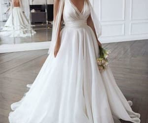 bridal, fashion, and backless wedding dress image
