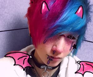 creepy cute, cyberpunk, and pastel goth image
