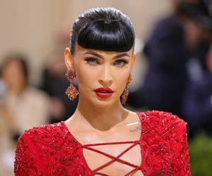 earings, hairstyle, and megan fox image