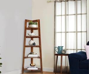 solid wood bookshelf, sheesham wood bookshelf, and corner bookshelf online image