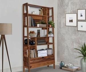 bookshelf online, solid wood bookshelf, and sheesham wood bookshelf image