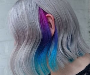 aesthetic, blue hair, and grey hair image