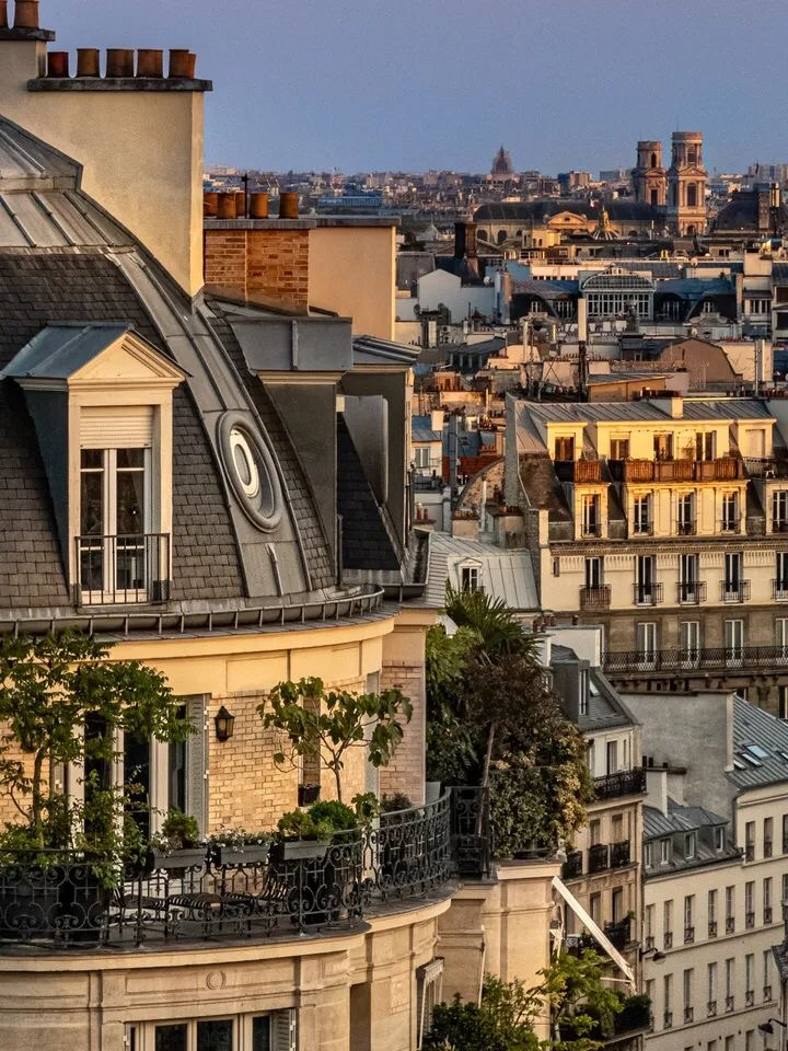 view, paris, and travel image