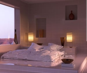 bedroom, interior, and photography image