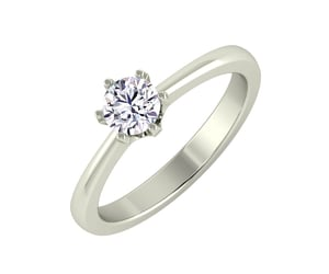 diamond ring, diamond solitaire ring, and engagement ring image