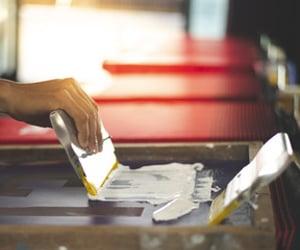 white ink printing image