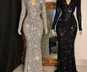 party dress, sequins dress, and prom dress image