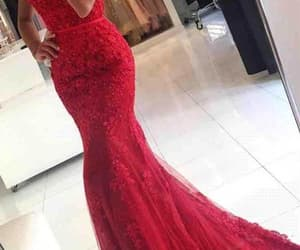 lace dress, red prom dress, and mermaid dress image