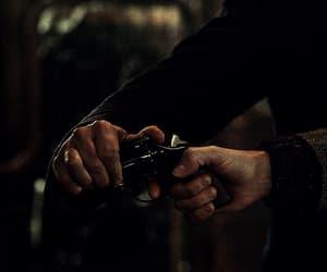 gif, gun, and hands image