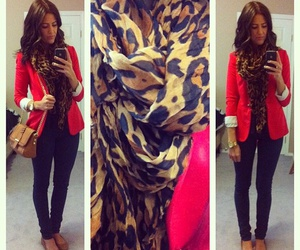 bag, blazer, and cheetah image
