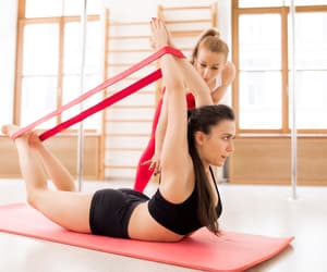 yoga, EXCERCISE, and fitness image