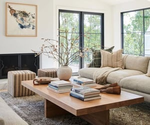 decor, room, and coffee table image