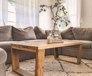 coffee table, brown, and decor image