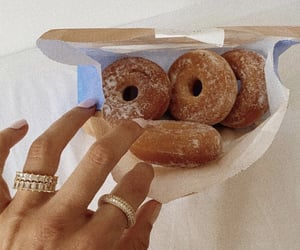 yummy, donuts, and food image