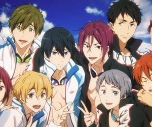 anime, swimming, and makoto tachibana image