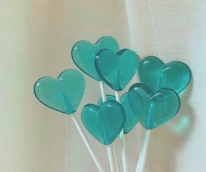 candy, turquoise, and lollipop image