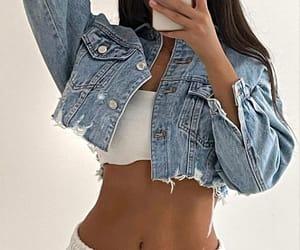 crop denim jacket image