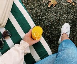 autumn, orange juice, and swing image