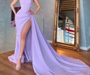 beauty, dress, and purple image