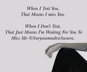 text, waiting, and love image