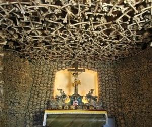 Catholic, crucifix, and skulls image