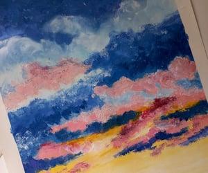 blue, desenho, and clouds image