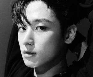 black and white, eric, and handsome image