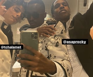 asap rocky and chalamet image
