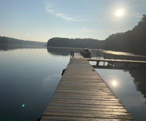 lake, water, and sommer image