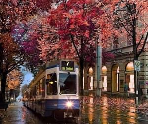 autumn, train, and travel image