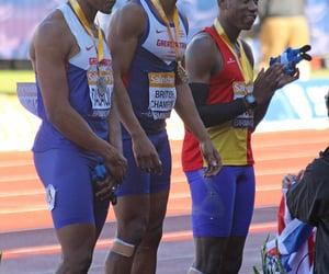 medal ceremony, chijindu ujah, and james dasaolu image