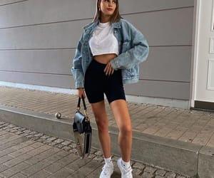 denim jacket, sporty chic, and crop denim jacket image