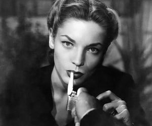 cigarette, Lauren Bacall, and actress image