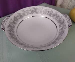 gray and silver, fine china bowl, and grandestreasures etsy image