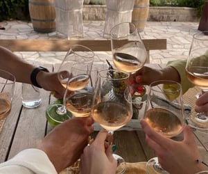 friendship and wine image