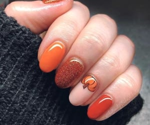 nails, autumn, and Halloween image