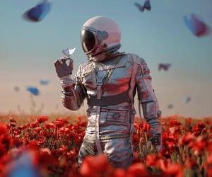astronaut, beautiful, and inspiring image