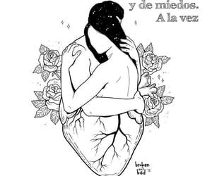 amor, blanco y negro, and frases español image