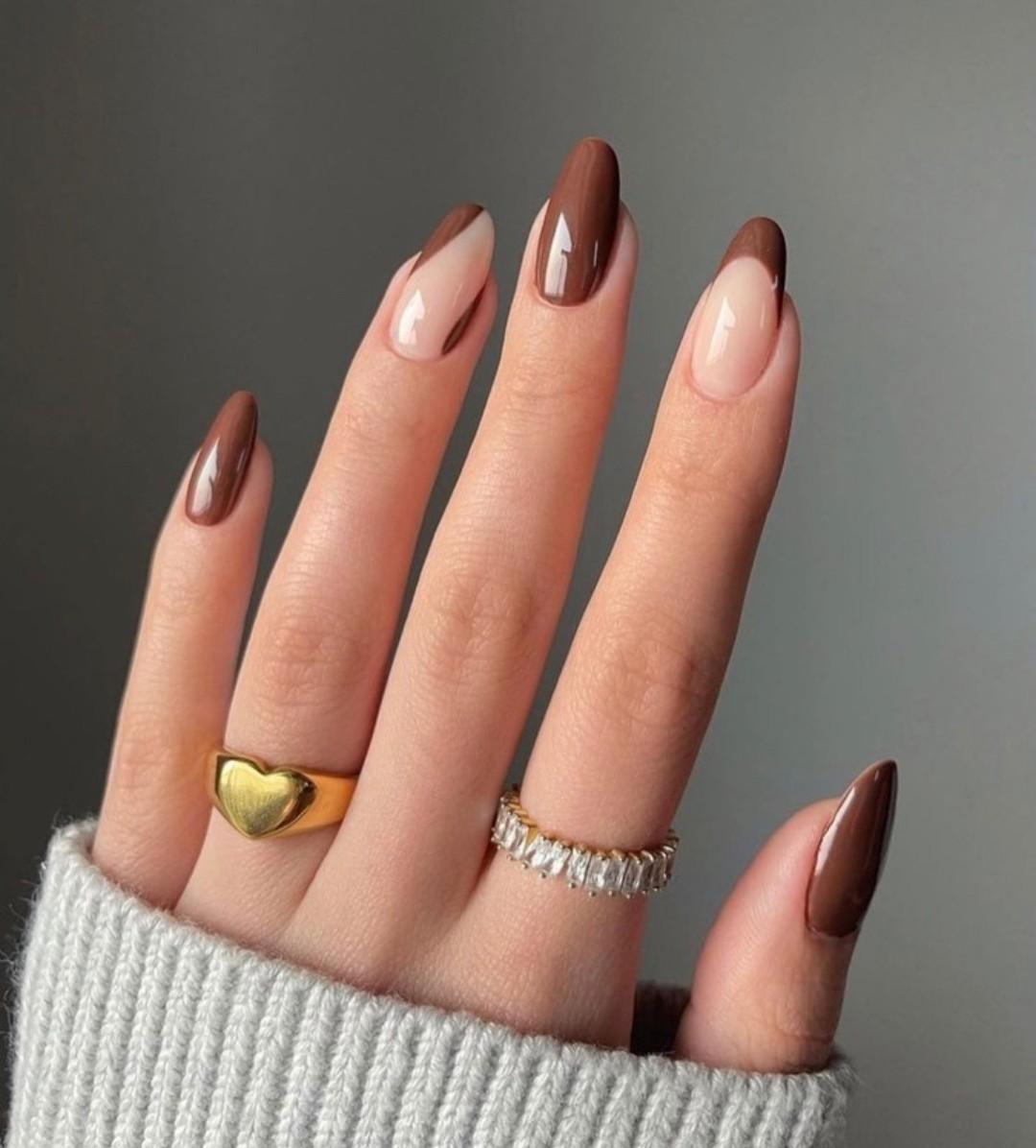 nails, brown, and fashion image