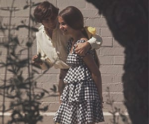 60s 70s, plaid print pattern, and relationship love couple image