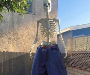 weirdcore and skeleton skull bones image