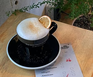 cafe, cappuccino, and citrus image