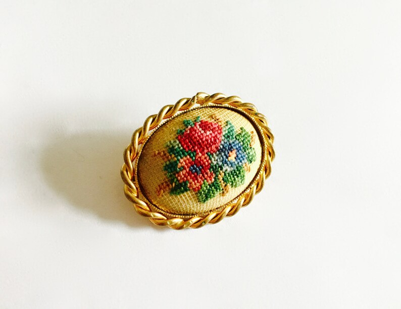 etsy, folk art, and handcrafted brooch image