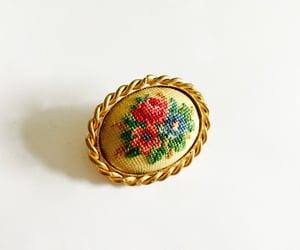 etsy, folk art, and vintage brooch image