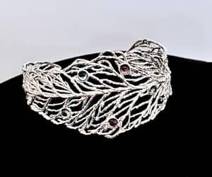 etsy, bangle bracelet, and sterling silver 925 image