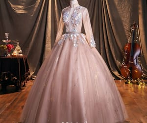 backless, ball gown, and floor-length image